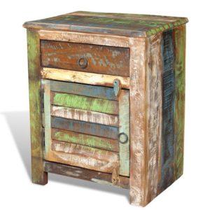 houten nachtkastje vidaXL bruin