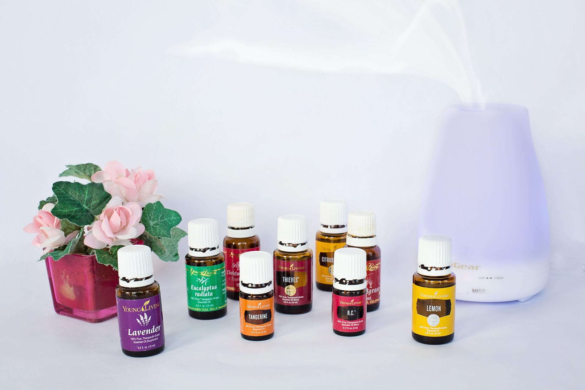 Aroma diffuser en etherische olie