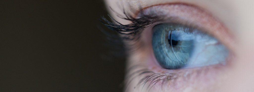 Blauw oog rem slaap